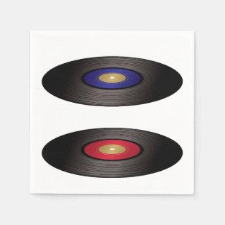 Vinyl Records Paper Napkins