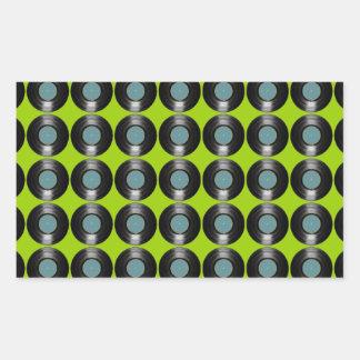 vinyl records pattern sticker