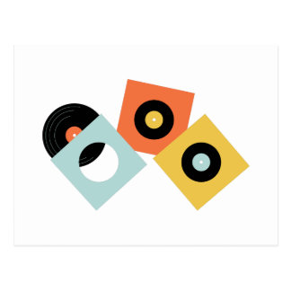 Vinyl Records Postcard