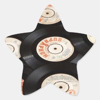 Vinyl Records Star Sticker