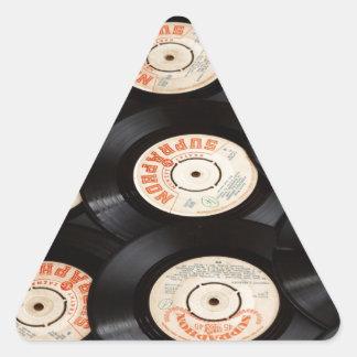 Vinyl Records Triangle Stickers