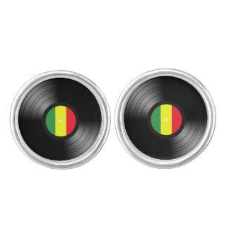 Vinyl reggae cufflinks