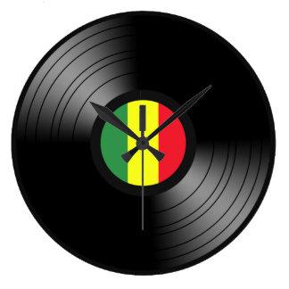 Vinyl reggae large clock