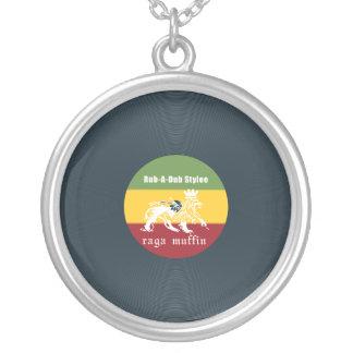 Vinyl rubadub silver plated necklace