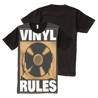 Vinyl Rules All-Over Front Print T-Shirt