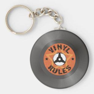 Vinyl Rules Keychain