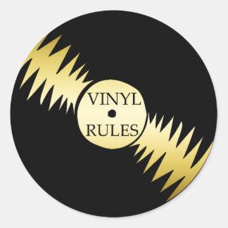 VINYL RULES ROUND STICKER