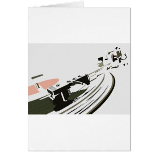 Vinyl Turntable Card