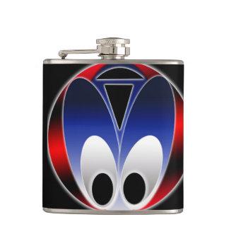 Vinyl Wrapped Flask-Alien Bug Hip Flask