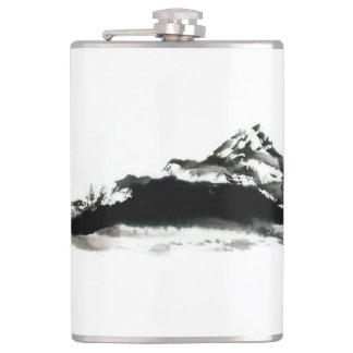"""Vinyl Wrapped Flask """"Black Mountain"""""""