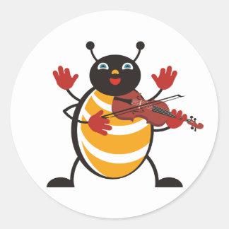 Viola Bug Classic Round Sticker