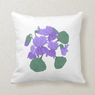 Viola floral pillow. throw pillow