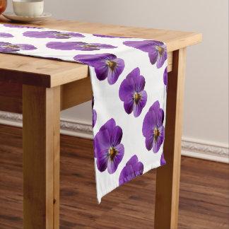 Viola Flower Table Runner
