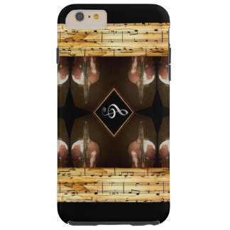 Viola Hand Painted With Sheet Music Border 2 Tough iPhone 6 Plus Case