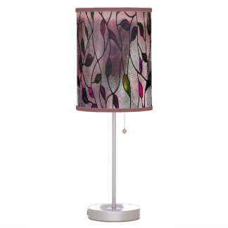 Viola Leafy Pattern Table Lamp