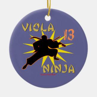 Viola Ninja Ceramic Ornament