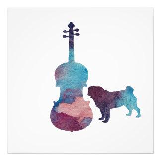 Viola pug art photo print