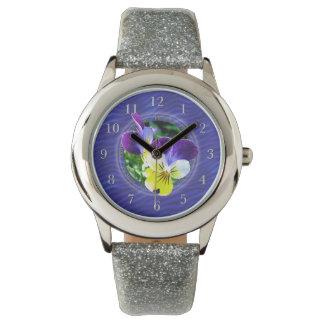 Viola Wildflowers Wristwatch