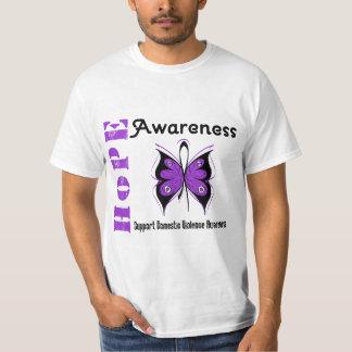 Violence familiale de papillon de conscience d'esp t shirt