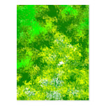 Violent Green Abstract