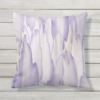 Violent Orchid Outdoor Pillow
