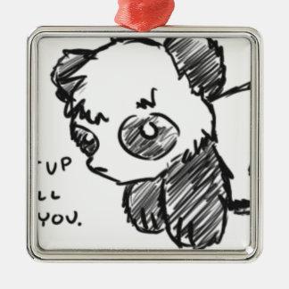 Violent Panda Metal Ornament