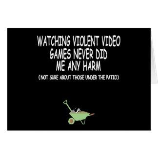 Violent video gamer card