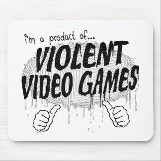 violent video games mouse pad