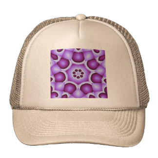 Violet abstract trucker hat