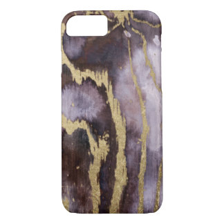 Violet And Gold Watercolor Phone Case