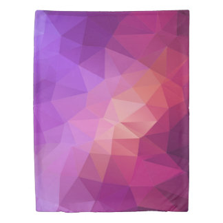 Violet and purple graphic pattern duvet cover