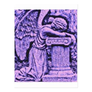 violet angel postcard