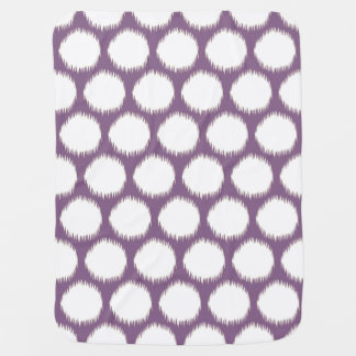 Violet Asian Moods Ikat Dots Baby Blanket