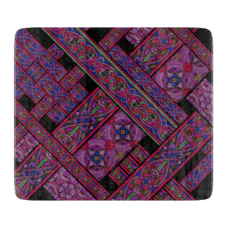 Violet Aurora Stained Glass Chopping Board Cutting Board