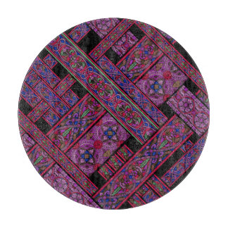 Violet Aurora Stained Glass Chopping Board Cutting Boards