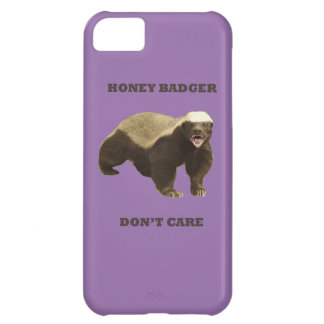 Violet Bellflower Honey Badger Dont Care iPhone 5C Covers