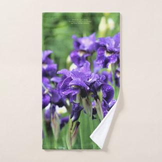 Violet Blue Siberian Iris, Ceasar's Brother, Hand Towel