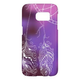 violet boho pattern with to dreamcatcher samsung galaxy s7 case