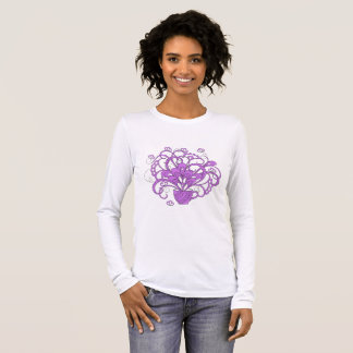 violet bouquet in the cup long sleeve T-Shirt