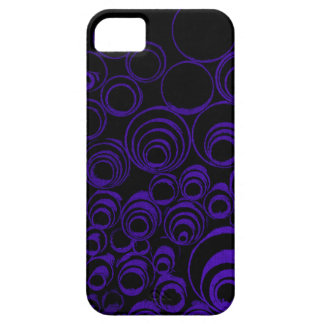 Violet circles rolls, ovals abstraction pattern UV Case For The iPhone 5