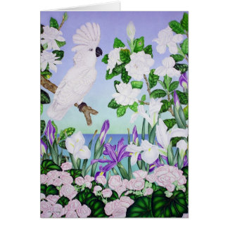 Violet Cockatoo Card