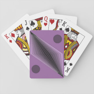 Violet Coruscants (standard index) Playing Cards