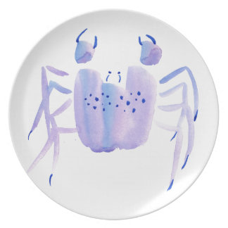 Violet Crab Party Plate