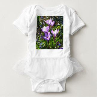 Violet crocuses 02.0, spring greetings baby bodysuit