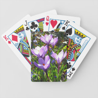 Violet crocuses 02.0, spring greetings bicycle playing cards