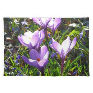 Violet crocuses 02.0, spring greetings placemat