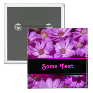 Violet Daisy Flowers Pins