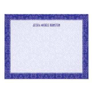 Violet Damask Note Card