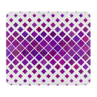 Violet Diamonds Cutting Board