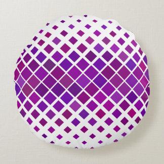 Violet Diamonds Round Pillow